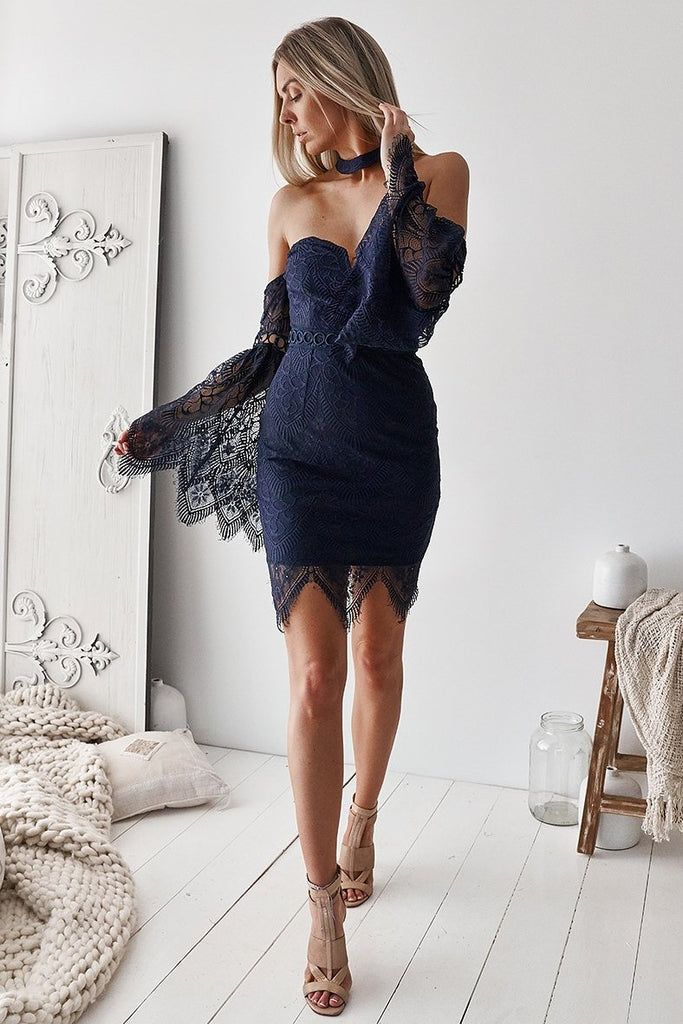 Katherine Dress - Navy - SHOPJAUS - JAUS