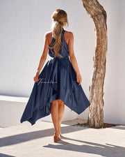 Kathleen Dress - Navy - SHOPJAUS - JAUS