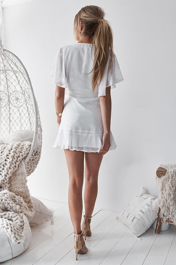 Kiera Dress - White - SHOPJAUS - JAUS