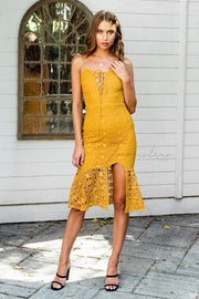 Kelsey Dress - Mustard - SHOPJAUS - JAUS