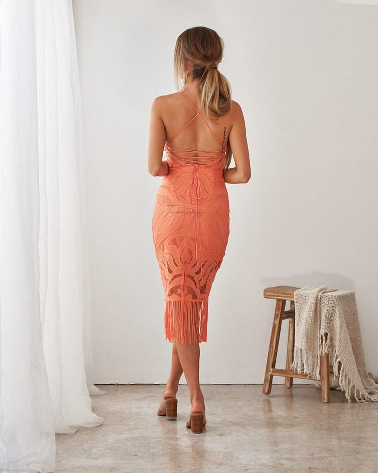 Khaleesi Dress - Apricot - SHOPJAUS - JAUS