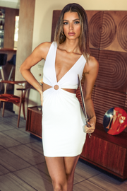 Mercy Cut Out Dress - White
