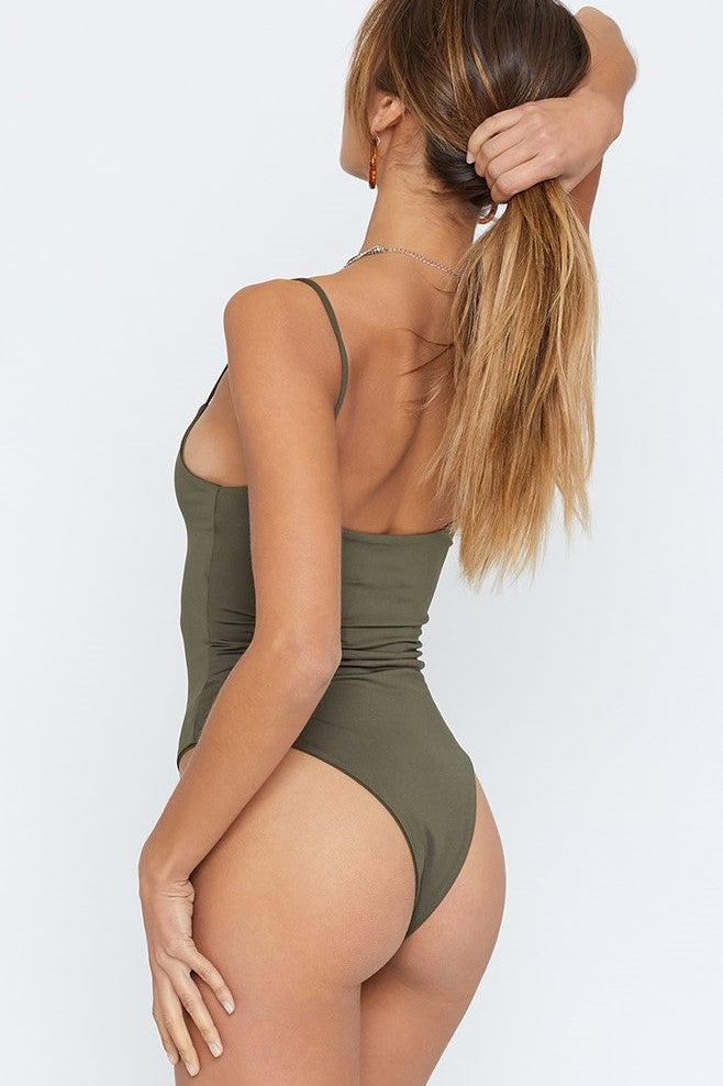 Kourtney Bodysuit - Khaki - SHOPJAUS - JAUS