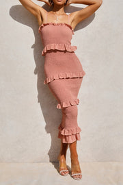 Meadows Dress - Peach - SHOPJAUS - JAUS