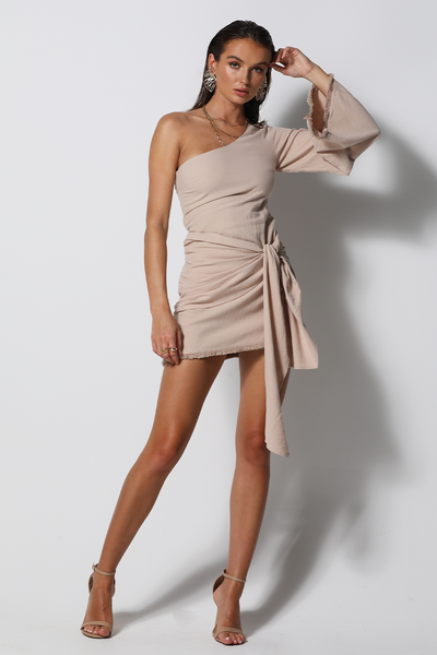Liana Dress - Beige - SHOPJAUS - JAUS