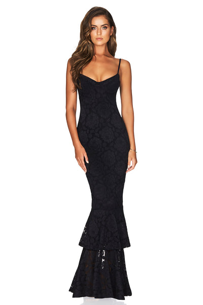 Nookie Liana Lace Gown - Black