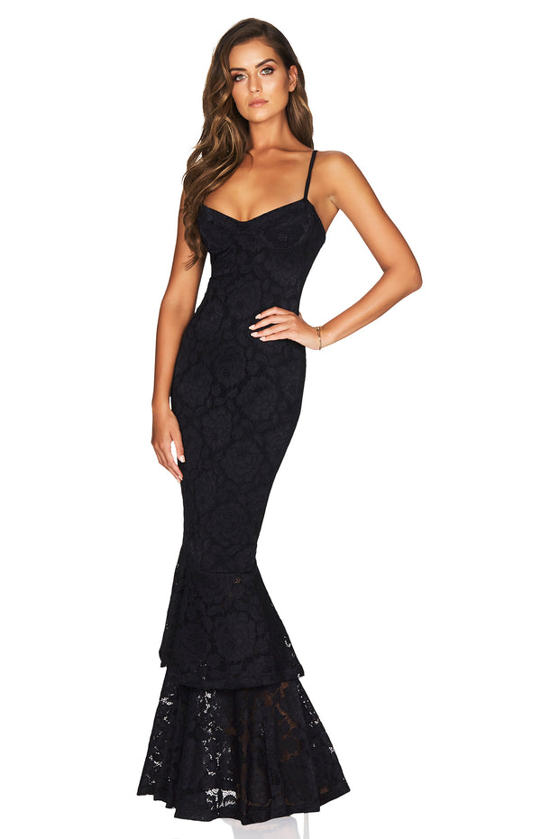 Nookie Liana Lace Gown - Black - SHOPJAUS - JAUS