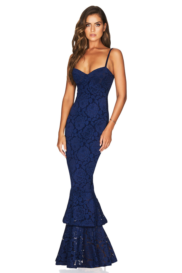 Nookie Liana Lace Gown - Navy - SHOPJAUS - JAUS