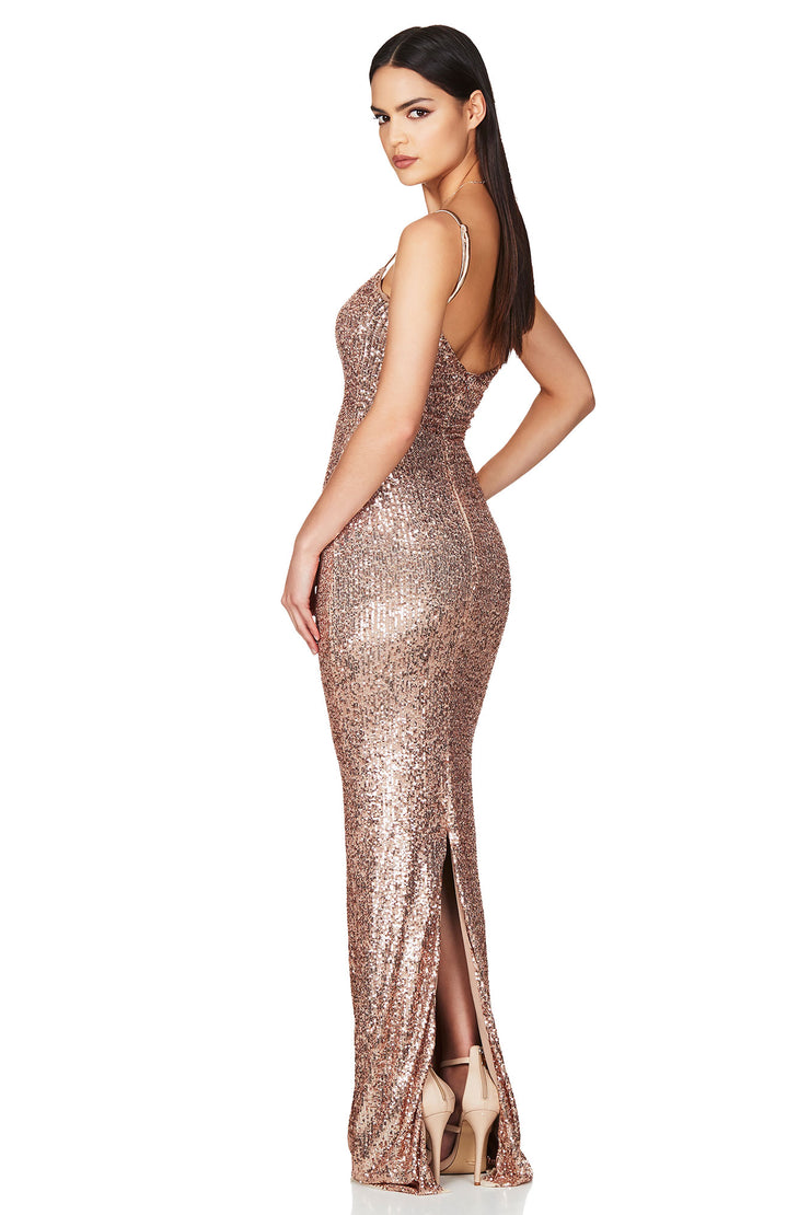 Nookie Lovers Gown - Rose Gold