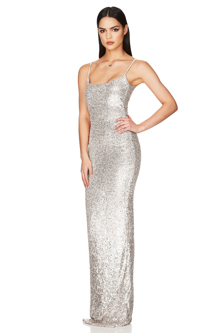Nookie Lovers Gown - Silver