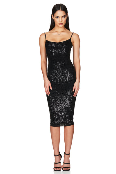 Nookie Lovers Midi Dress - Black - SHOPJAUS - JAUS
