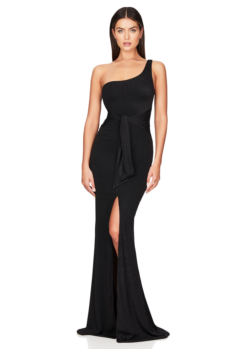 Nookie Luna Gown - Black - SHOPJAUS - JAUS