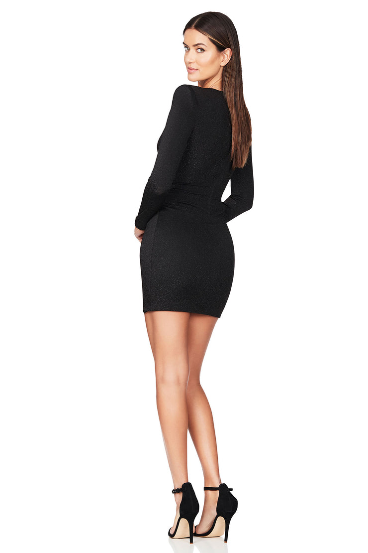 Nookie Luna Long Sleeve Mini Dress - Black - SHOPJAUS - JAUS