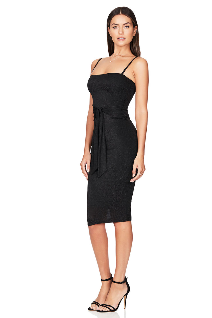 Nookie Luna Midi Dress - Black - SHOPJAUS - JAUS