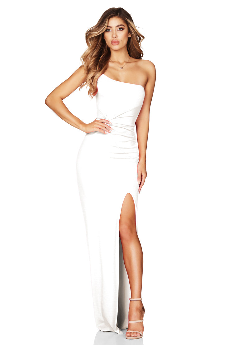 Nookie Lust One Shoulder Gown - Ivory