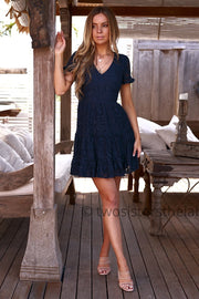 Laura Dress - Navy - SHOPJAUS - JAUS