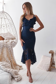 Leanne Dress - Navy - SHOPJAUS - JAUS
