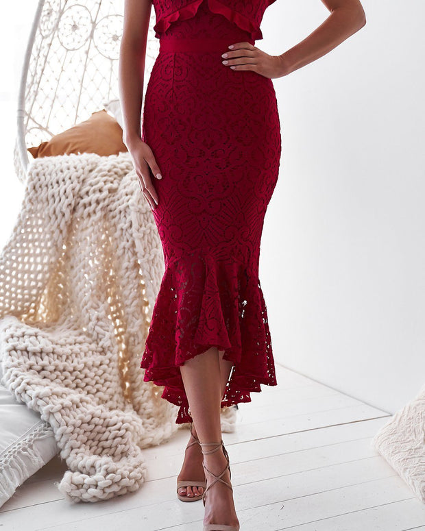 Leanne Dress - Red (PREORDER) - SHOPJAUS - JAUS