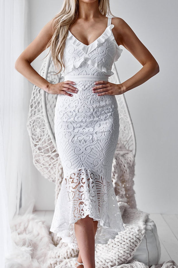 Leanne Dress - White - SHOPJAUS - JAUS