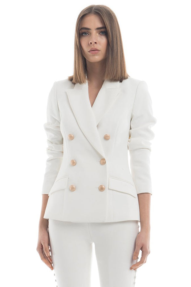 Misha Collection Leona Blazer - Ivory - SHOPJAUS - JAUS