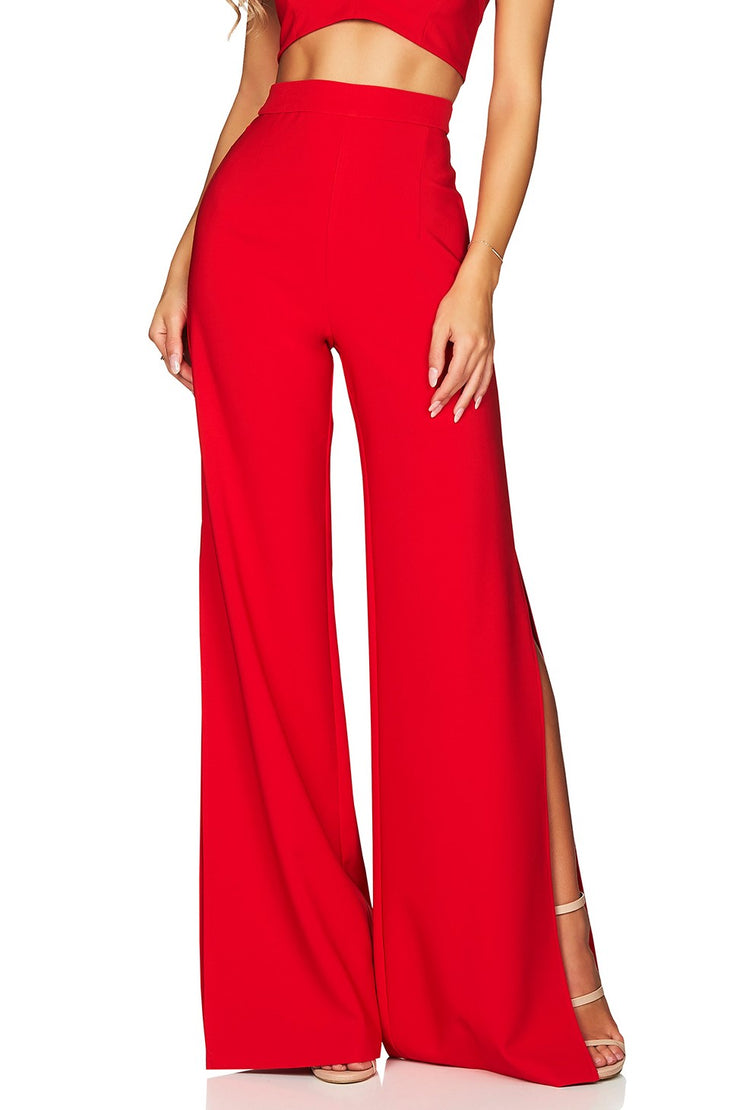 Nookie Belle High Waist Pant - Cherry - SHOPJAUS - JAUS