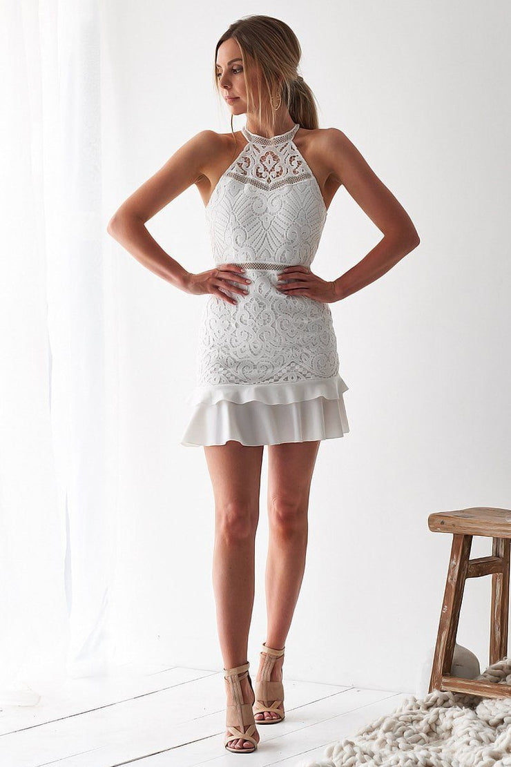 Mika Dress - White (PREORDER) - SHOPJAUS - JAUS