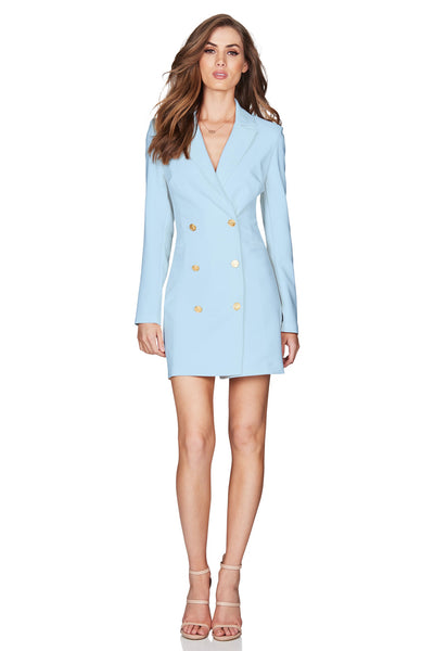 Nookie Milano Blazer Dress - Powder Blue - SHOPJAUS - JAUS