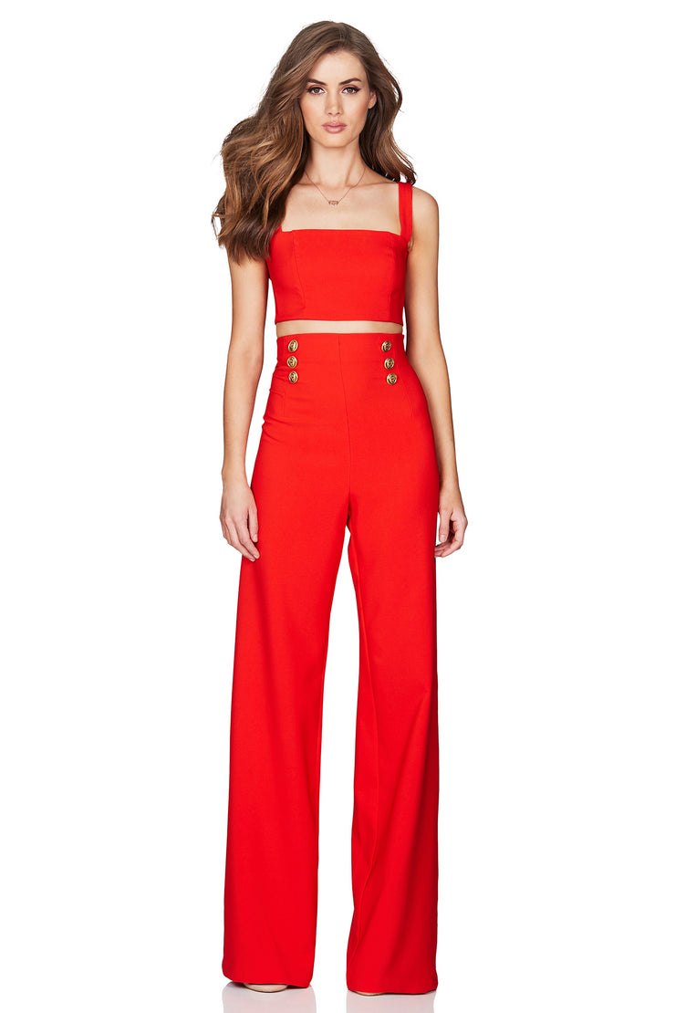 Nookie Milano Pants - Orange/Red - SHOPJAUS - JAUS