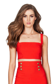 Nookie Milano Crop - Orange/Red - SHOPJAUS - JAUS