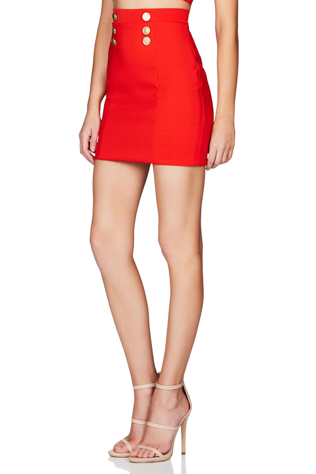 Nookie Milano Skirt - Orange/Red - SHOPJAUS - JAUS
