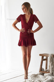 Mira Dress - Red - SHOPJAUS - JAUS