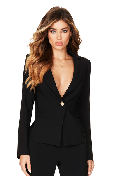 Nookie Muse Blazer - Black - SHOPJAUS - JAUS