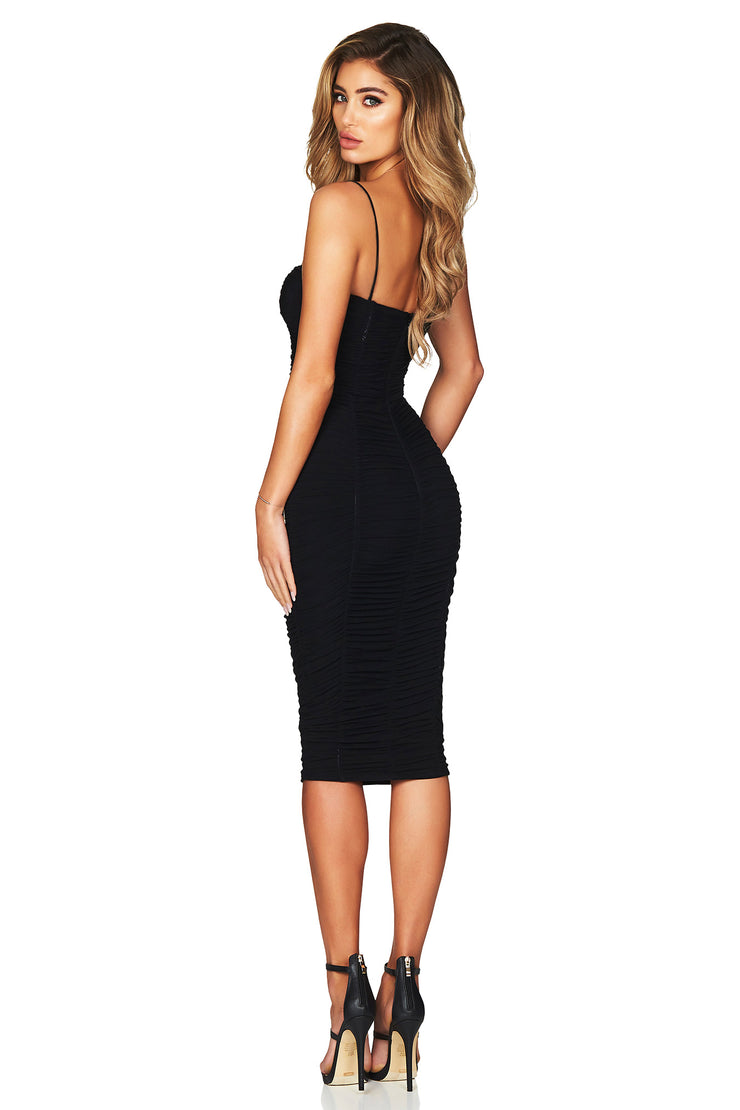 Nookie Mystic Mesh Midi Dress - Black - SHOPJAUS - JAUS