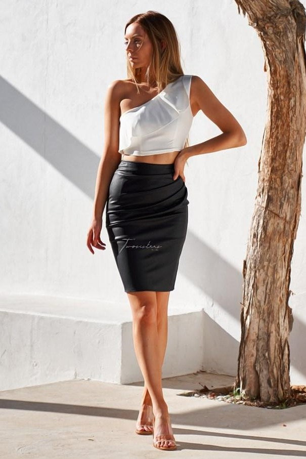 Maison Skirt - Black - SHOPJAUS - JAUS