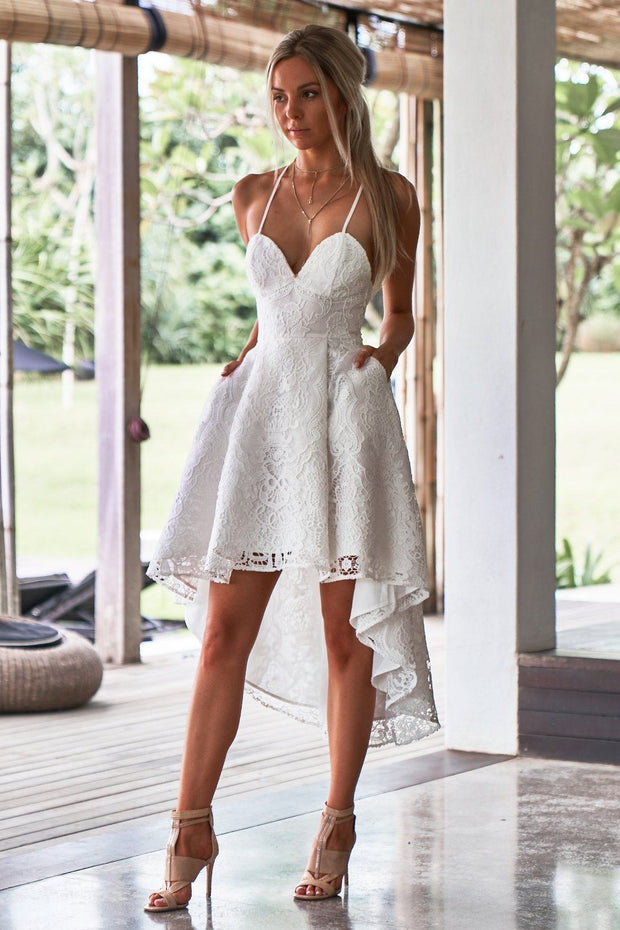 Marilyn Dress - White - SHOPJAUS - JAUS
