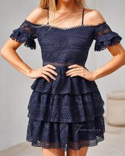 Melinda Dress - Navy - SHOPJAUS - JAUS