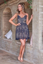 Mendoza Dress - Navy - SHOPJAUS - JAUS