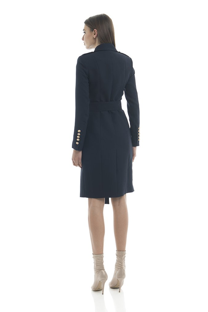Misha Collection Andrea Trench Coat - Navy - SHOPJAUS - JAUS