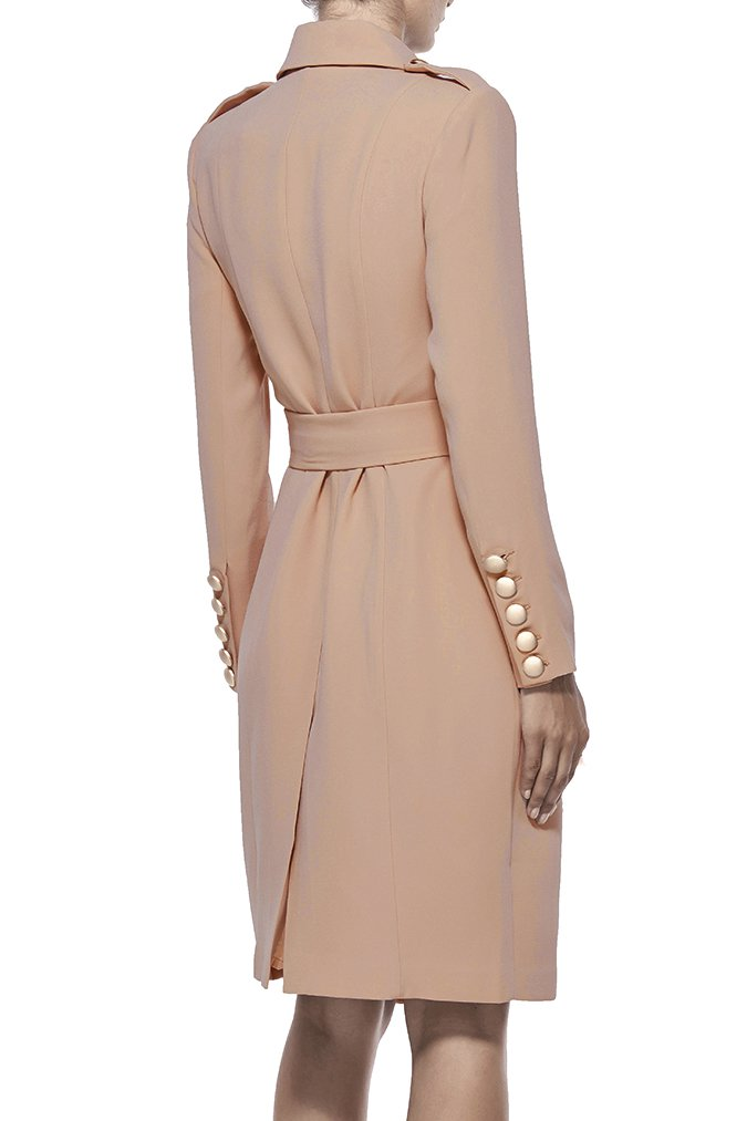 Misha Collection Andrea Trench Coat - Nude - SHOPJAUS - JAUS
