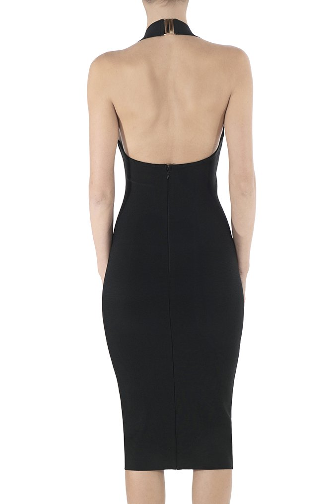 Misha Collection Julia Bandage Dress - Black - SHOPJAUS - JAUS