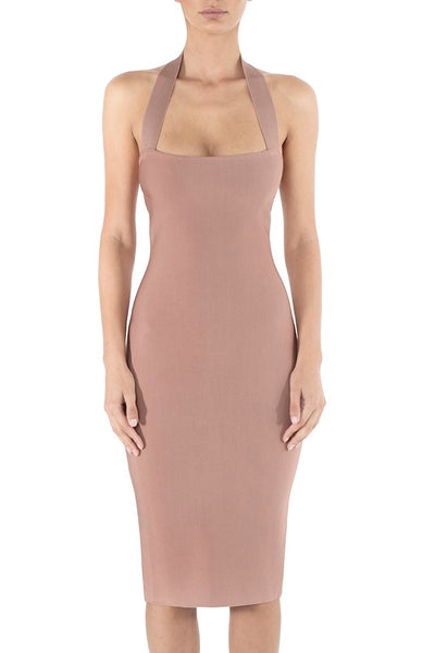Misha Collection Julia Bandage Dress - Dusty Rose - SHOPJAUS - JAUS
