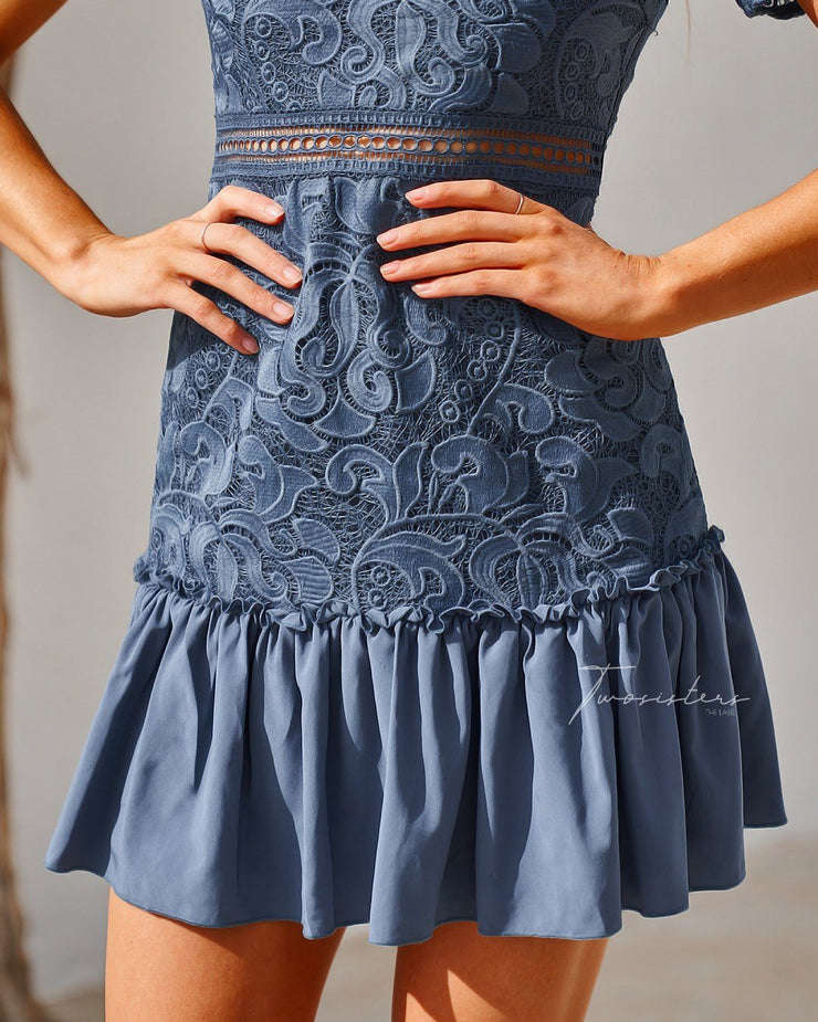 Missha Dress - Steel Blue - SHOPJAUS - JAUS