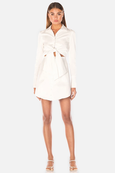 Misha Collection Mya Shirt Dress - Ivory - SHOPJAUS - JAUS