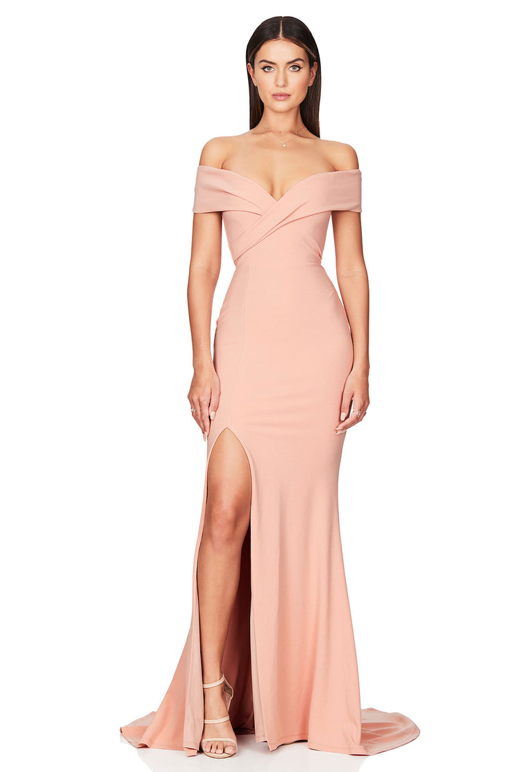 Nookie Neptune Gown - Blush - SHOPJAUS - JAUS