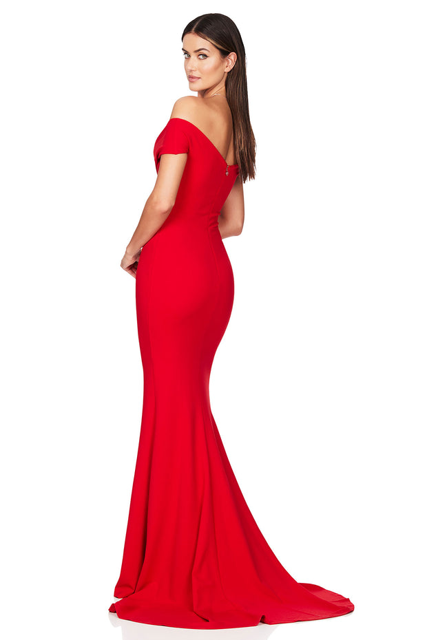 Nookie Neptune Gown - Red - SHOPJAUS - JAUS