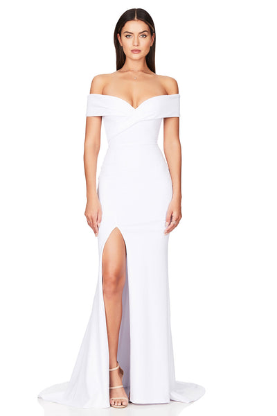 Nookie Neptune Gown - White - SHOPJAUS - JAUS