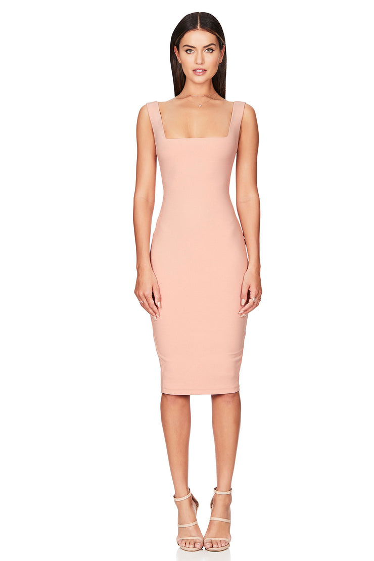 Nookie Neptune Midi Dress - Blush - SHOPJAUS - JAUS