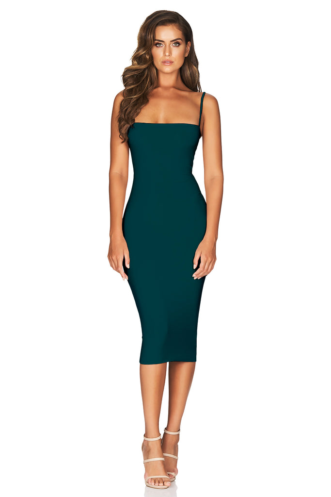 Nookie Charlize Strap Midi Dress - Teal (PREORDER) - SHOPJAUS - JAUS