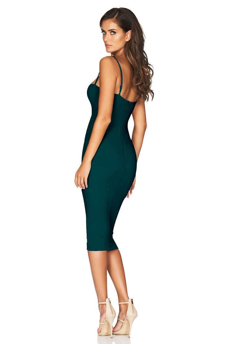 Nookie Charlize Strap Midi Dress - Teal - SHOPJAUS - JAUS