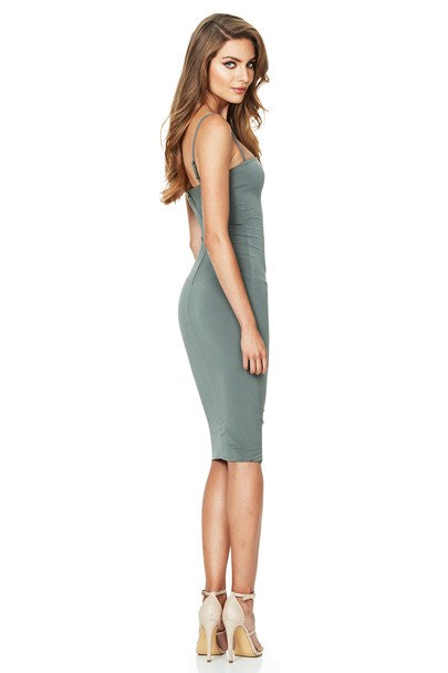 Nookie Charlize Strap Midi Dress - Olive - SHOPJAUS - JAUS